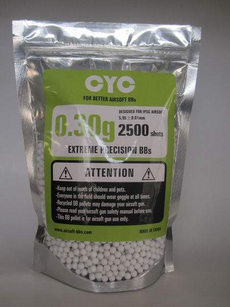 0.30g, airsoft bb's, white or black, ziplock bag