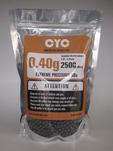 0.40g, heavy airsoft bb's, black, ziplock bag